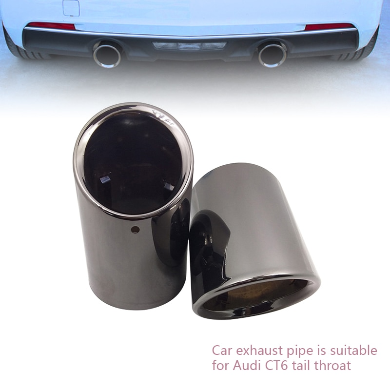 Automobile exhaust pipe is suitable for Toyota Camry oblique mouth stainless steel muffler tail throat modification decoration