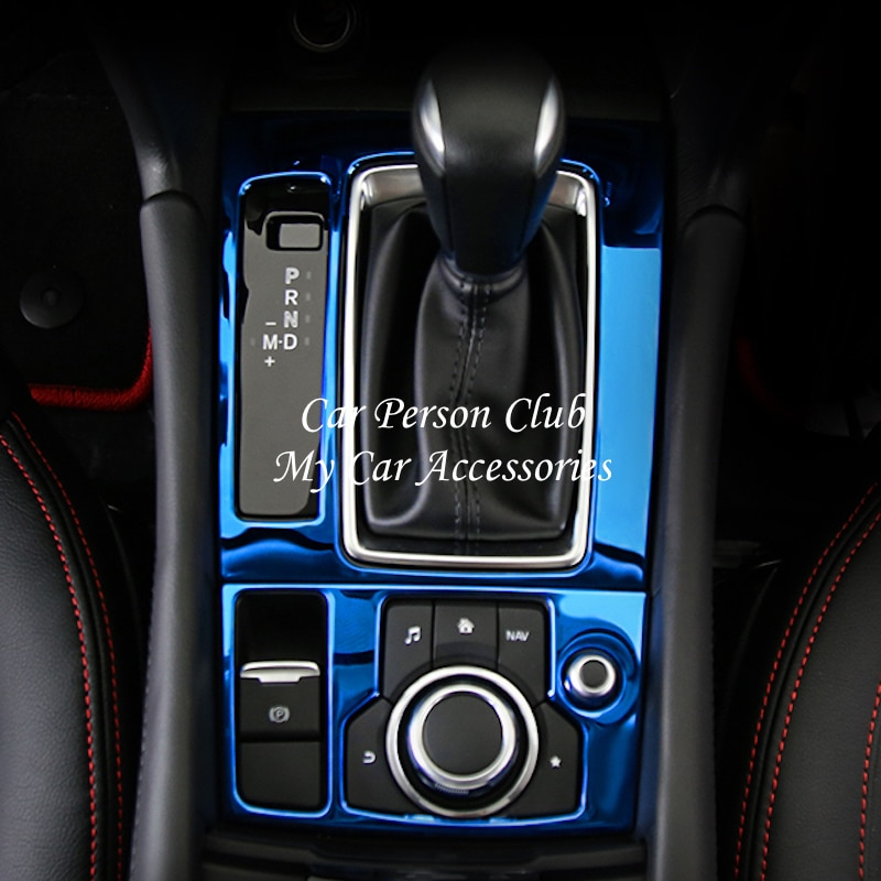 Para Mazda 3 Axela LHD 2017-2019 caja de cambios de consola Interior cubierta de Panel de marco de acero inoxidable moldeo de accesorios