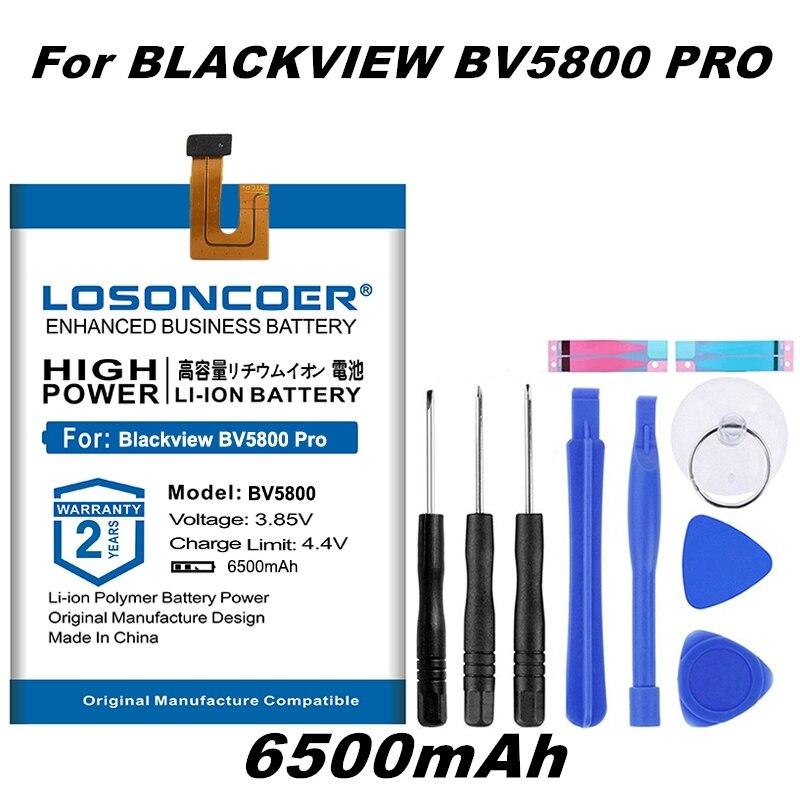 LOSONCOER 6500mAh V685780P Batterie Für Blackview BV5800 Batterie für Blackview BV5800 Pro Gute Qualität Batterie