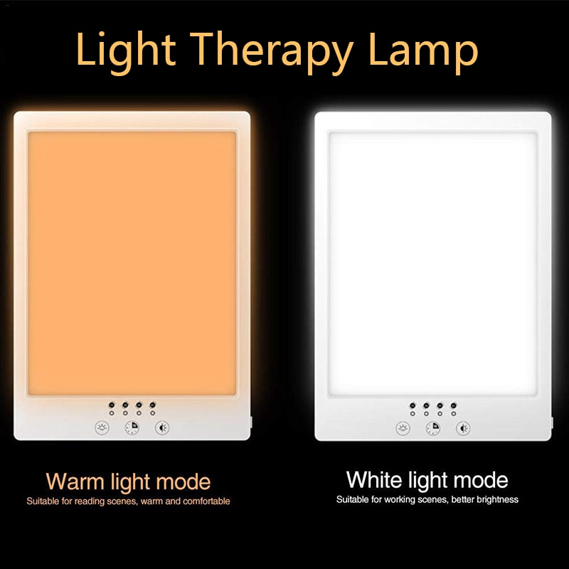 مصباح علاج ضوئي ، ضوء شمسي يعمل باللمس ، خافت مستمر ، مؤقت ، علاج بالكبس