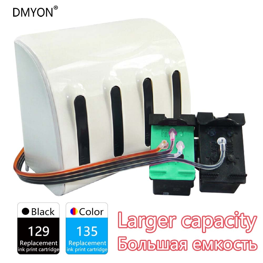 Compatível para hp Cartucho de Tinta de Impressora Ciss 6980dt 6980xi 6983 6988 dt 6988xi 129 135 6940dt 6943