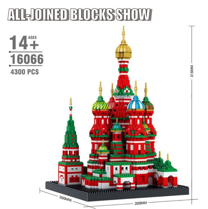 Mini Diamond Building Blocks Architecture Bricks Toy Saint Basils Cathedral Taj Mahal Children Compatible City Gifts