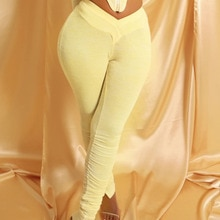 Sexy Stacked Leggings for Women Sweatpants Fall Clothes High Waist Trouser Joggers Elastic Bodycon H