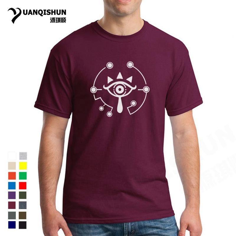 16 colores COS selda T Shirt The Ledgend of selda camiseta algodón Eye Printi hombres camiseta manga corta Camiseta verano marca ropa