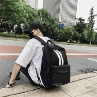 stripe backpack brand high quality large capacity waterproof nylon leisure or travel bag preppy style joker school backpack boy
