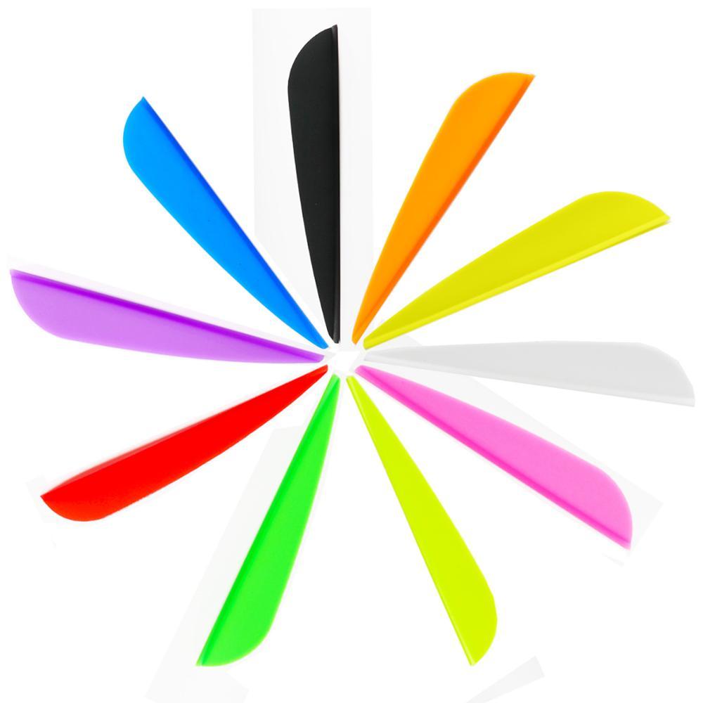 60 unids/lote 3 pulgadas flecha Vans TPU Stream-line Fletching agua-Drop Shape flechas accesorios pluma de plástico DIY reparación uso