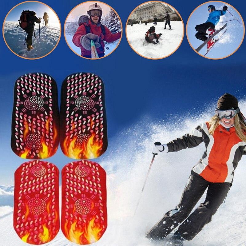 2019 nuevo 1/2 par turmalina auto Calefacción magnética calcetines cómodos y transpirables invierno esquí Fitness calcetines de deporte térmico