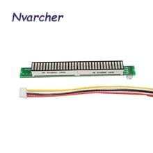 Tek 32 seviye göstergesi VU metre Stereo amplifikatör kurulu müzik ses spektrum göstergesi ayarlanabilir ışık hız AGC