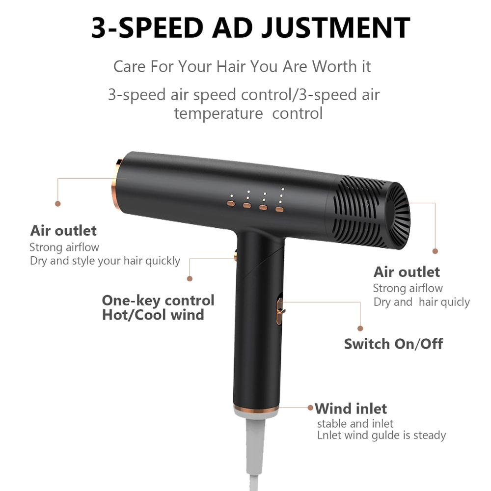 Professional Hair Dryers Diffuser Hair Dryer Inoic Technical Hot & Cooling Drier Machine Brushless Motor Hair Blow Drier enlarge