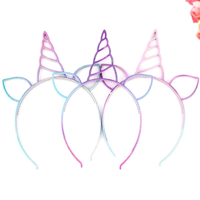 10pcs Candy color unicorn headband hot sale festival antlers ear hairband fashion cat ears hair accessories