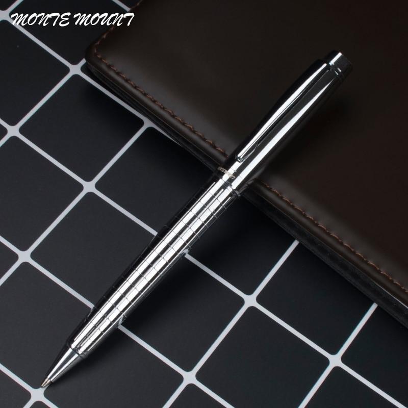 Шариковая ручка 0,7 мм, черная металлическая ручка-ролик, роскошная Шариковая ручка для бизнеса, письма, офисные и школьные принадлежности