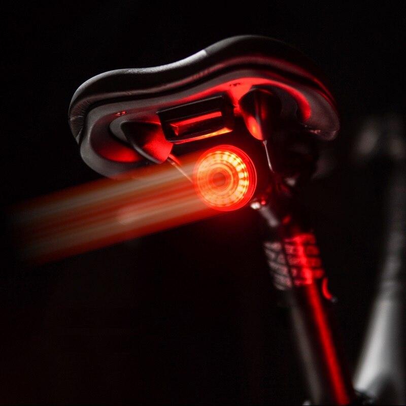 TWOOC-luz trasera inteligente de freno para automóvil, con sensor de carga USB para bicicleta de montaña, luz de seguridad LED para bicicleta de carretera
