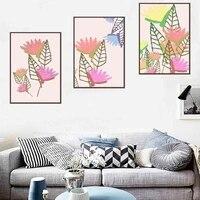 Peinture a lhuile de plantes graffiti nature morte fleur art abstrait toile peinture salon couloir bureau decoration murale de la maison