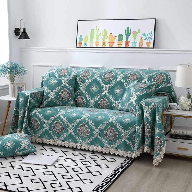 Чехол для дивана Fyjafon, жаккардовый чехол для дивана из синели, моющийся чехол для дивана, декоративный чехол для гостиной 180*240/180*280 чехол