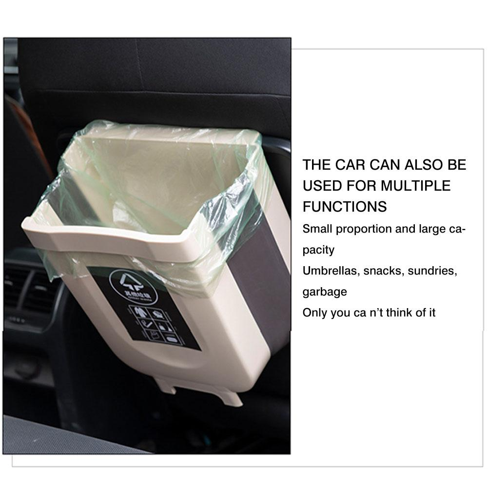 Caixa de lixo do carro universal caixote do lixo do carro plástico dobrável bin de lixo pendurado mini caixotes de lixo para o armário do carro cozinha