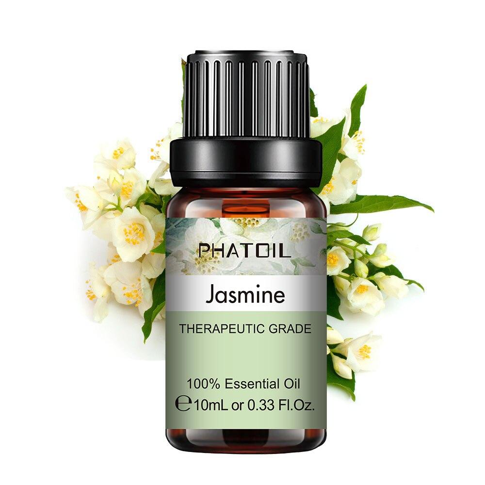 10ml 30ml 100ml Jasmine Essential Oil Diffuser Pure Natural Essential Oils Lavender Eucalyptus Vanilla Sandalwood Mint Aroma Oil недорого