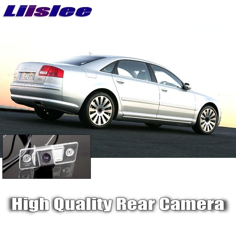 LiisLee Auto Umkehrung bild Kamera Für Audi A8 A8L S8 D3 4E 2002 ~ 2009 Nachtsicht HD Wasserdichte Gewidmet rückansicht zurück CAM