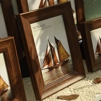 american style classic picture frames wood europe rectangle picture frames single frame quadros decorativos home decor bd50fe