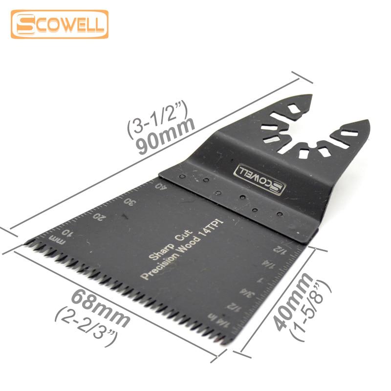 Hojas de sierra oscilantes triangulares de 65mm, 30% de descuento, sierra de renovación, piezas reemplazadas para cortar madera rápida y de precisión, cuchillas multiherramienta