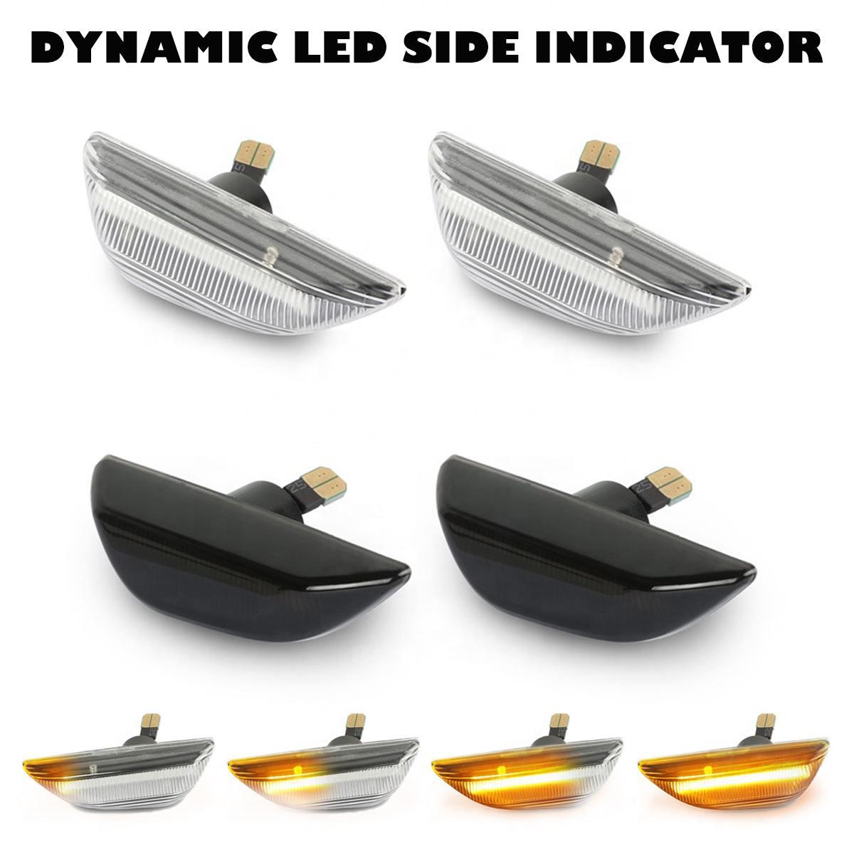 2 шт., светодиодный динамический боковой маркер, световой сигнал поворота, светильник, последовательный мигатель для Opel Mokka X, Chevrolet Trax 13 ~ 19