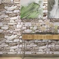 vintage waterproof 3d brick removable wallpaper roll peel and stick diy self adhesive bedroom living room wall decor