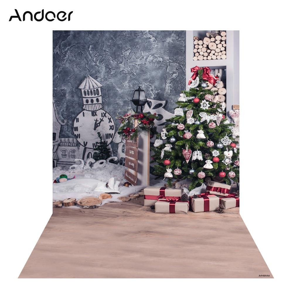 Andoer 1,5*2m fondo de fotografía telón de fondo Impresión Digital navidad regalo de árbol patrón para estudio fotográfico