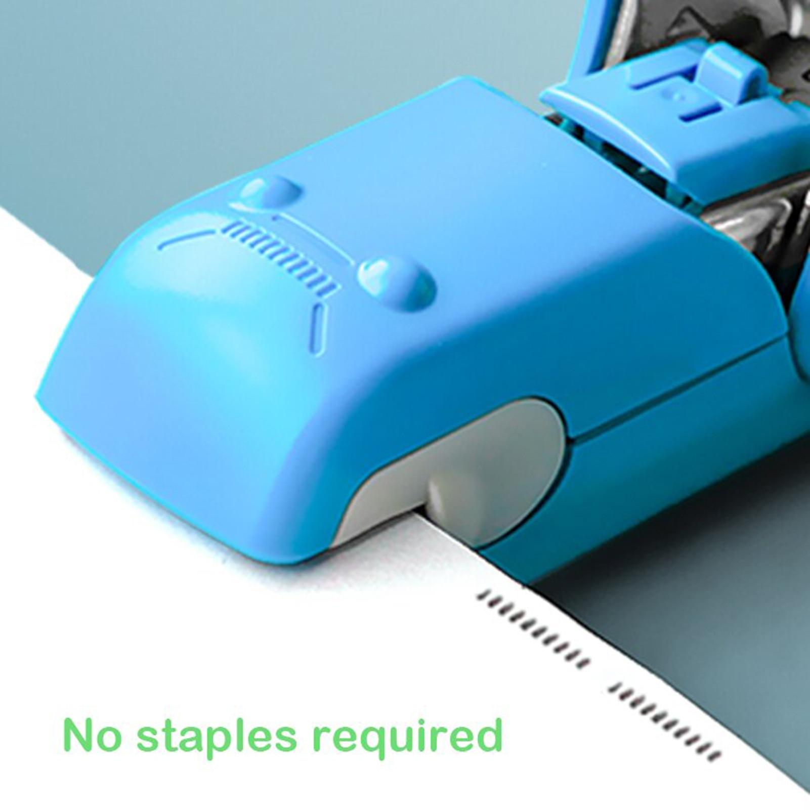 Степлер, экономия времени, легкий ручной степлер без иглы, портативный студенческий офисный канцелярский мини-степлер GK99