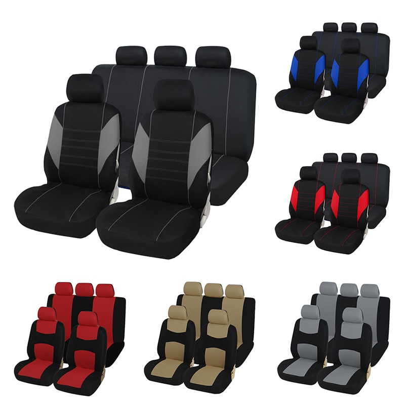 Car Seat Covers Airbag compatible Fit Most Car, Truck, SUV, or Van 100% Breathable with 2 mm Composi