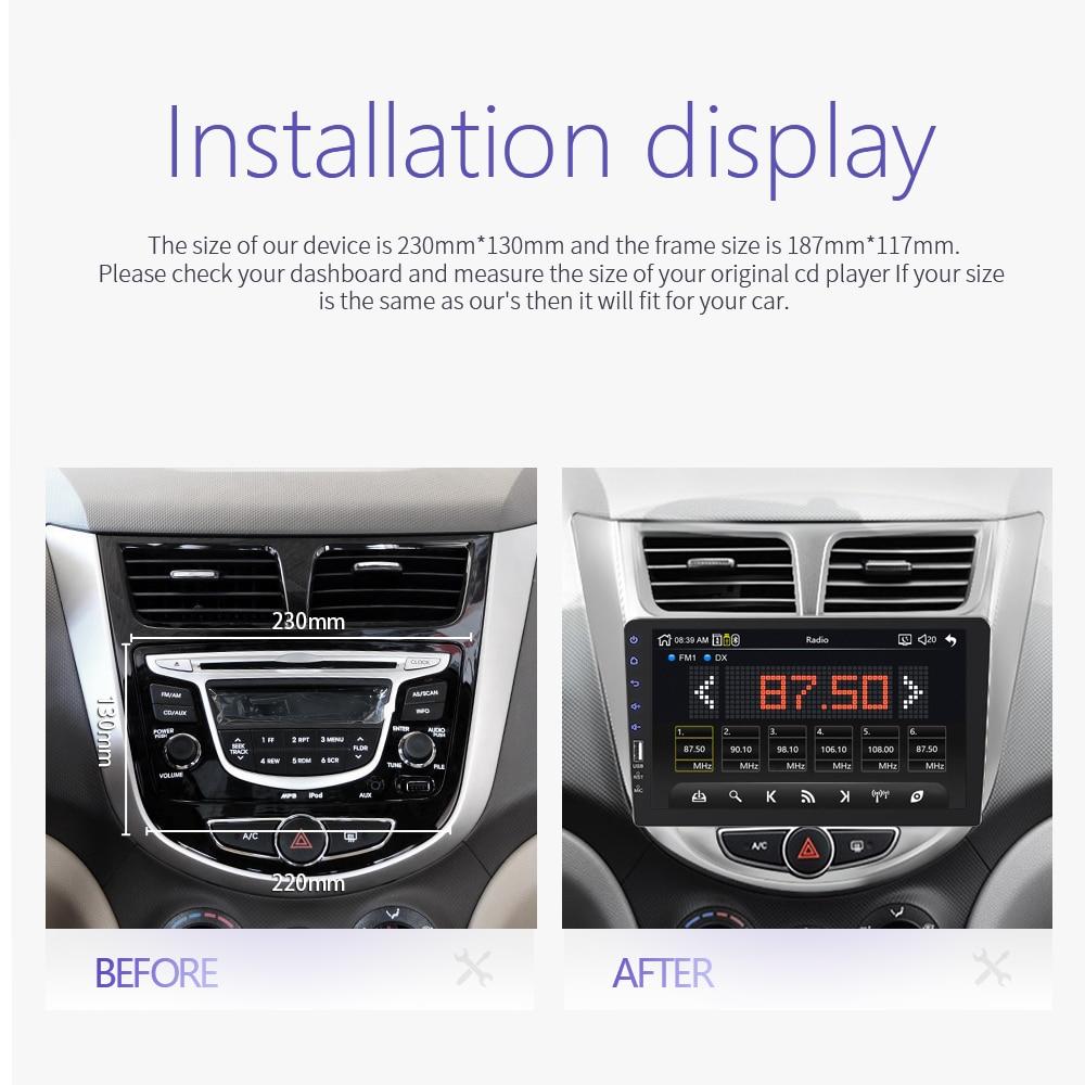 2021 New 9 Inch Car Multimedia Player 1 Din Car Radio Bluetooth USB Reverse Camera MP5 Player Autoradio NO android