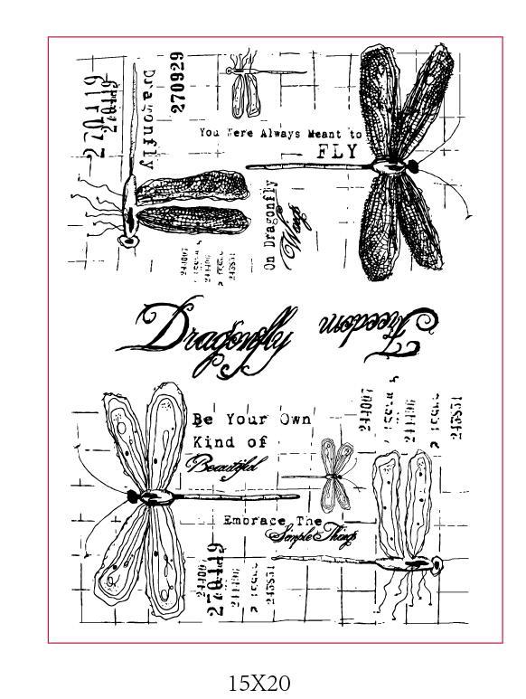 Libélula CLARA SELOS Recados DIY Cartão de álbum de selos de artesanato de papel rolo de borracha de silicone transparente 1008