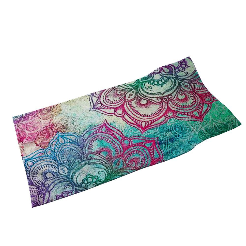 HUGSIDEA-Toalla de baño con diseño de flor de Mandala Tribal colorido, Toalla de ducha de freír rápido, suave, resistente a la decoloración, Toalla de mano para el pelo de la cara