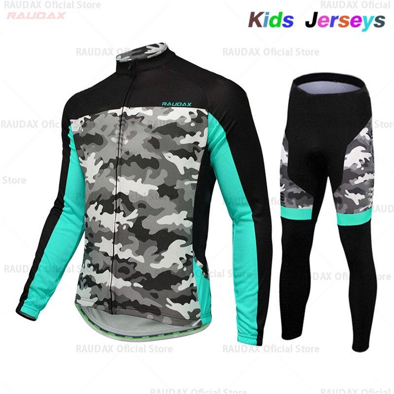 2021 Pro equipo Ciclismo Jersey niños Primavera/otoño Ropa de Ciclismo de manga...