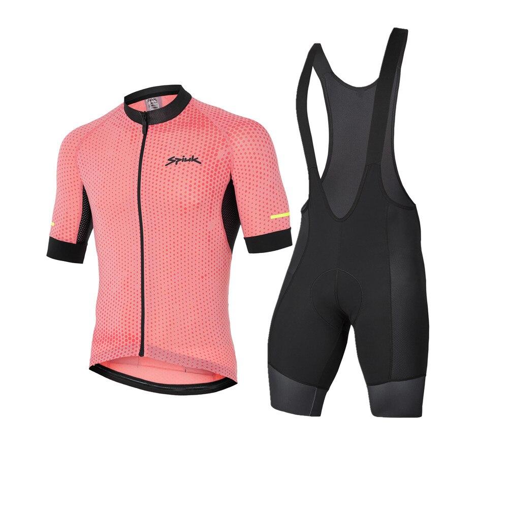 SPIUKful-Conjunto de Jersey de manga corta para Hombre, ropa de Ciclismo de...