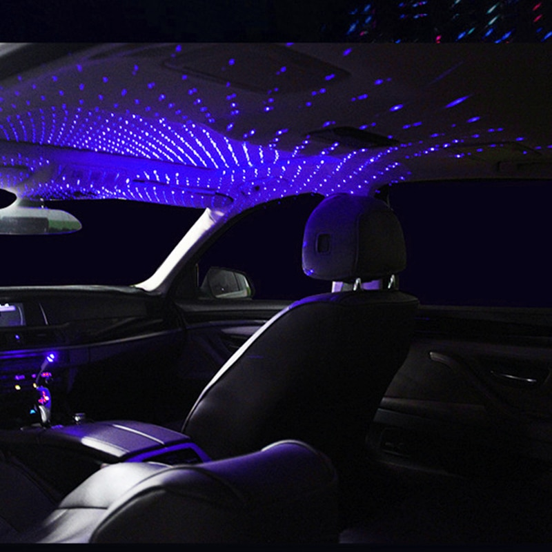 aliexpress.com - Car Roof Star Ambient Light Romantic USB Night Atmosphere Lamp Auto Interior Decoration Pop Red Led Projector Galaxy Adjustable