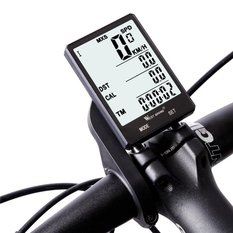 Велосипедный компьютер, водонепроницаемый, с подсветкой, беспроводной, проводной, велосипедный спидометр, одометр, велосипедный секундоме...