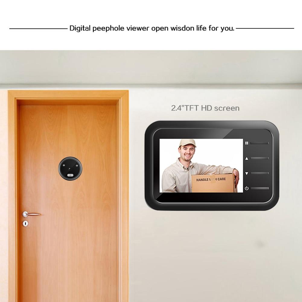 R11 LED Flash Home Cordless Smart Door Bell 2.4 inch Peephole Door Camera Home Security Alarm/ Welcome Smart Doorbell enlarge