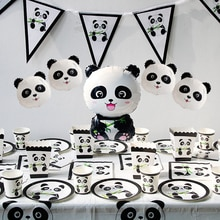 1Pc Panda Birthday Foil Balloons Birthday Party Decoration Kids Bamboo Forest Animal Inflatable Balo
