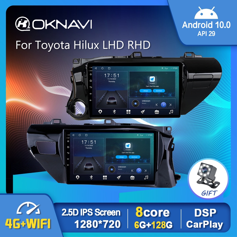 Фото - 6G 128G Android 10.0 Car Multimedia Radio Player For Toyota Hilux LHD RHD 2016 2017 2018 GPS Stereo DSP Carplay Auto No 2din DVD 6g 128g android 10 0 smart car radio video player for nissan nv200 2011 2016 4g auto bt multimedia gps stereo dsp carplay no dvd