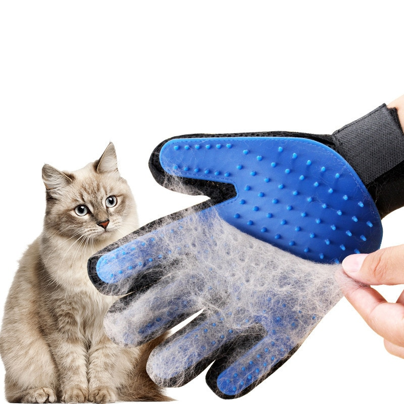 Cat Grooming Glove for Cats Wool Pet Hair Deshedding Brush Comb Dog Cleaning Massage