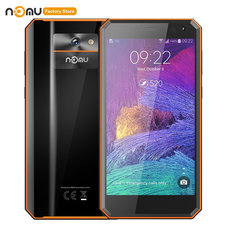 "Original IP68 NOMU caliente M6 4G Smartphone 5,0 ""2.5D Android 7,0 MTK6737VWT Quad Core 1,5 GHz 2GB RAM 16GB ROM 8.0MP 3000mAh teléfonos celulares"