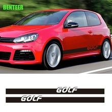 Autocollant de carrosserie de voiture volkswagen golf 6 golf   2 pièces MK4 MK5 MK6 MK7 golf 6 golf 7 golfr golf 5 golf4 golf7.5