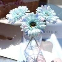 Fleurs artificielles avec chrysantheme en soie  3 pieces  23cm  fausses fleurs pour decoration de fete  de mariage  de jardin  de maison  de bureau