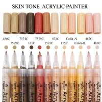 skin tone markers paint pens set of 12 skin colors markers for painting on rocks canvas tiles glass acrylic paint marker