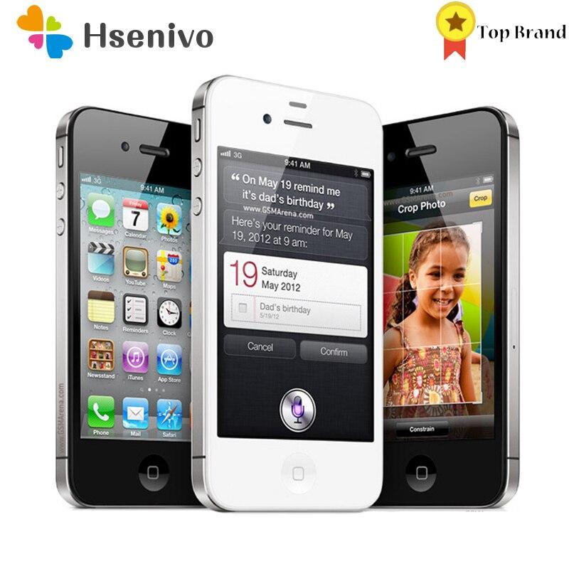 Apple Iphone 4S Used (95% New )-Unlocked iphone 4S 8/16/32/64GB Mobile Phone Dual core WCDMA 3G WIFI GPS 8MP Camera phone