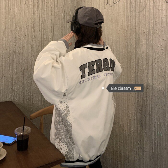Harajuku American Baseball Uniform Female Ins Trendy 2021 Spring and Autumn New Korean Style Student