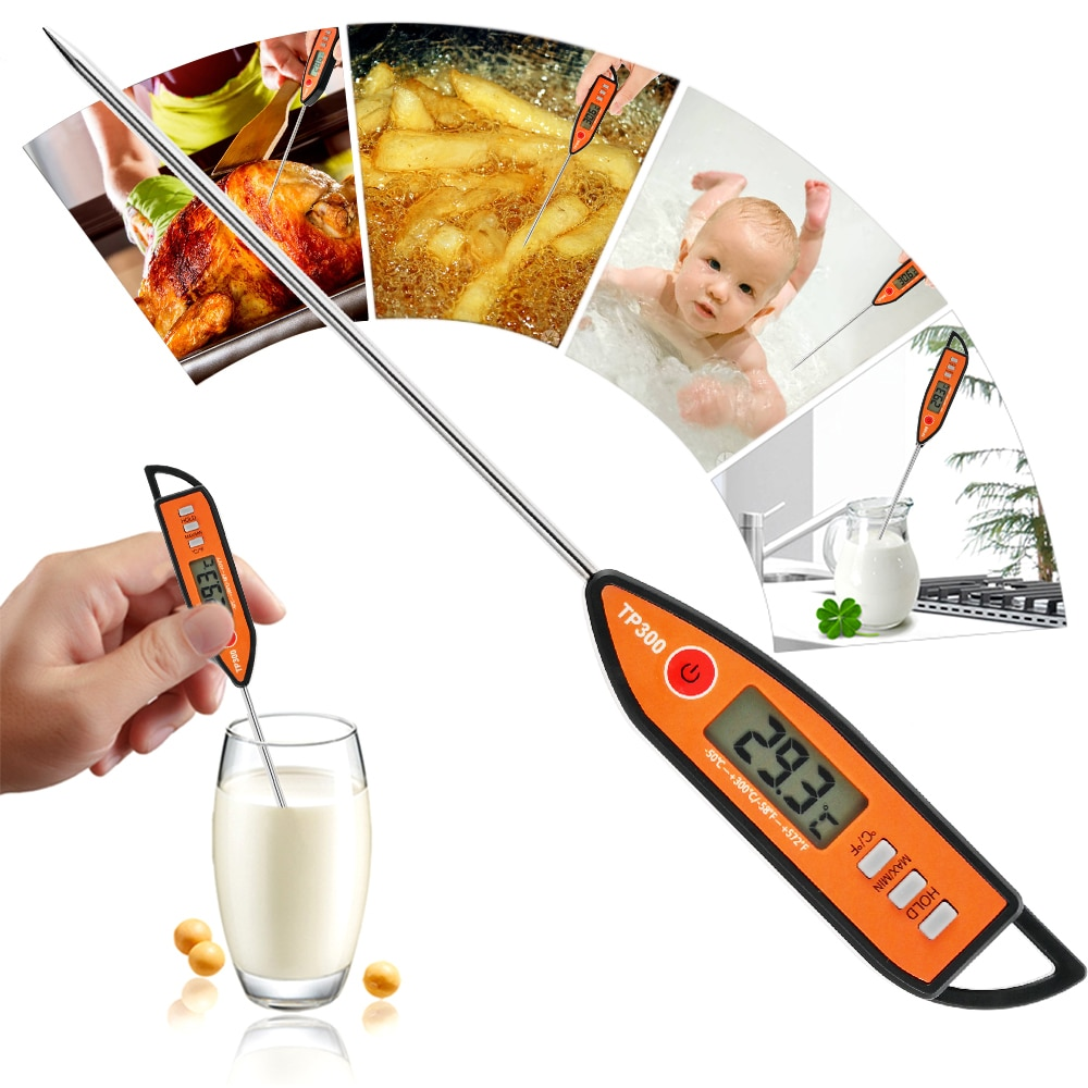 kitchen digital bbq thermometer electronic cooking food thermometer probe water milk oven meat thermometer tools Food Thermometer Digital Kitchen Thermometer For Meat Water Milk Cooking Food Gauge BBQ Electronic Oven Thermometer Kitchen Tool