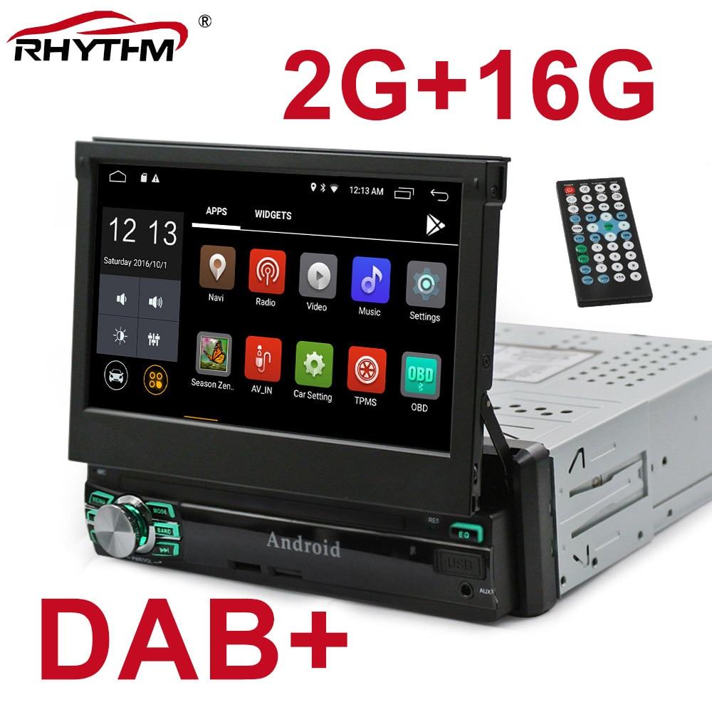 "DHL/EMS/1Din Android 8,1 coche Radio Estéreo AutoRadio GPS RAM 2G Quad Core Universal 7 ""HD pantalla táctil BT WIFI RDS FM enlace espejo"