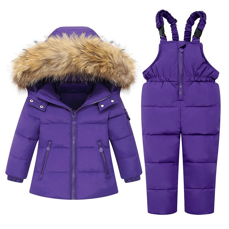 Kids Down Jackets Warm Winter Cotton Thickened Kids Outfits Set Hooded Cartoon Girls Boys Down Coat 2-6Y Children Clothes enlarge