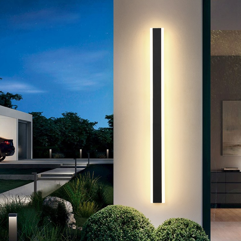 Rectangle Indoor Outdoor Wall Lamps Garden Villa Porch Sconce mirror light AC220V Bedroom Bedside wandlamp Lighting Fixture