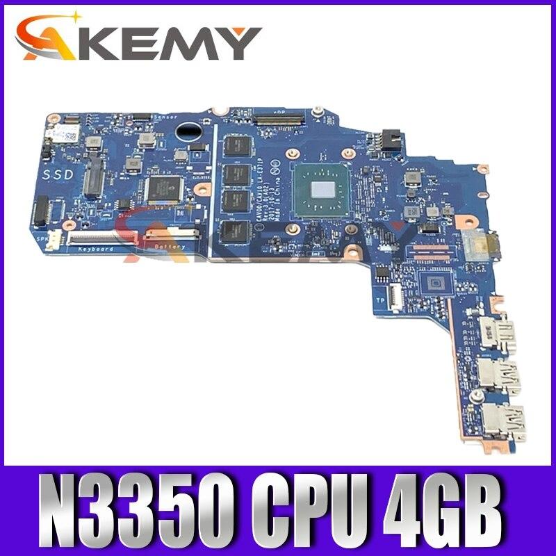 لديل خط العرض 3189 سيليرون N3350 اللوحة المحمول CN-0T5JKG 0T5JKG مفكرة اللوحة CAV00 CAV10 LA-E371P SR2Z7 4GB